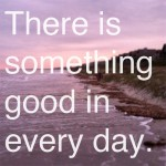 Inspired Ideas: There is Something Good in Every Day