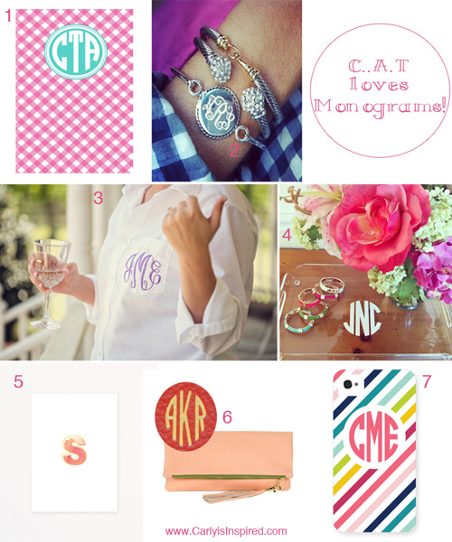 Things I Love: Monograms