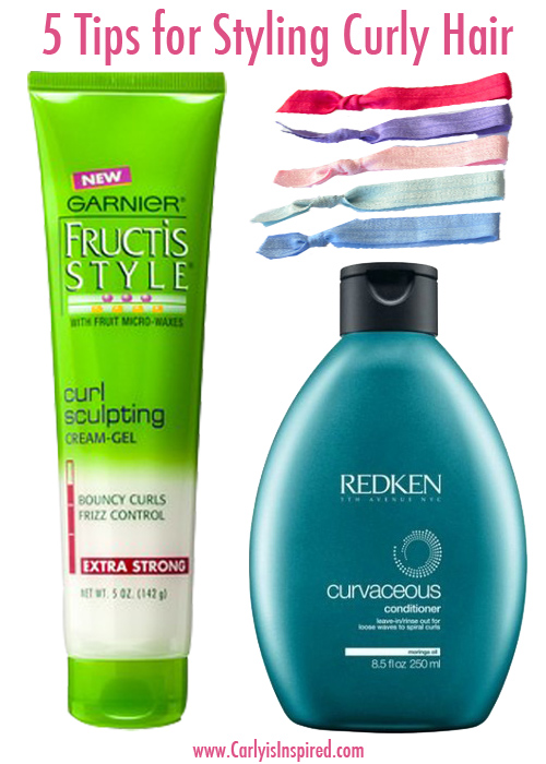 Five Tips for Styling Curly Hair
