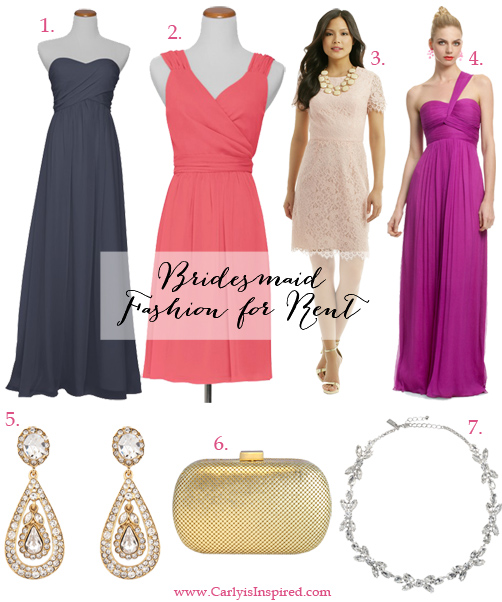 Bridesmaid Fashion You Can Rent