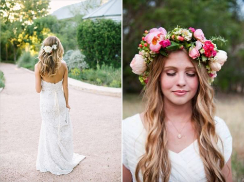 Wedding Hair Inspiration: Floral Crowns