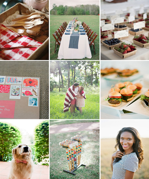 Fourth of July Engagement Party Inspiration