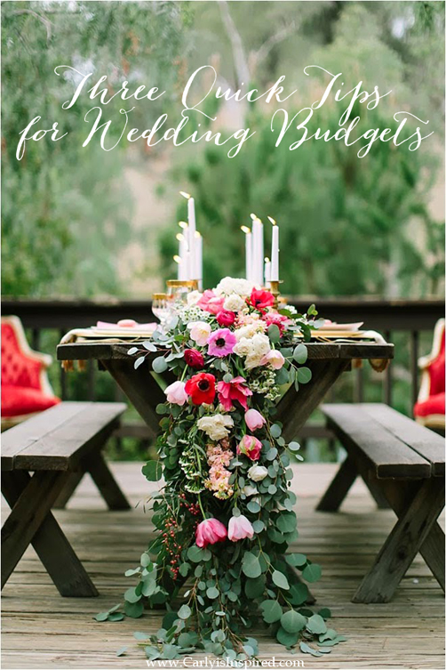 Wedding Budgets: Three Quick Tips