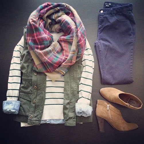 Stripes-Plaid-Scarf-Fall-Style