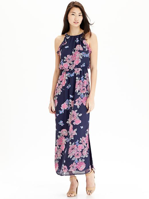 Old-Navy-Budget-Friendly-Wedding-Guest-Dress-Floral-Chiffon