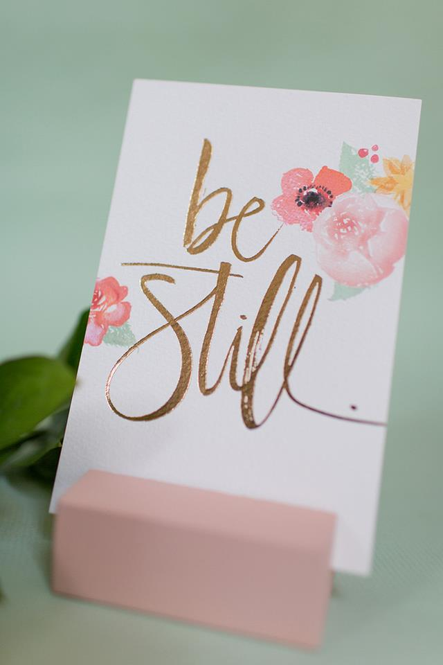 Inspired Ideas: Be Still & Breathe