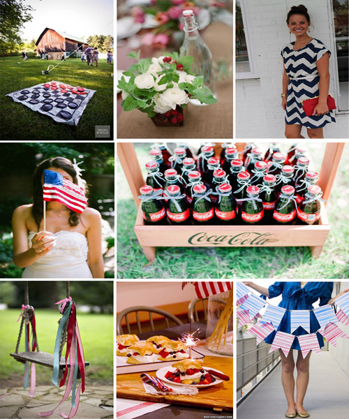 Classic July 4th Backyard Party Inspiration