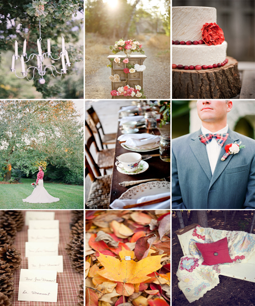 Rustic Vintage Fall Wedding Inspiration