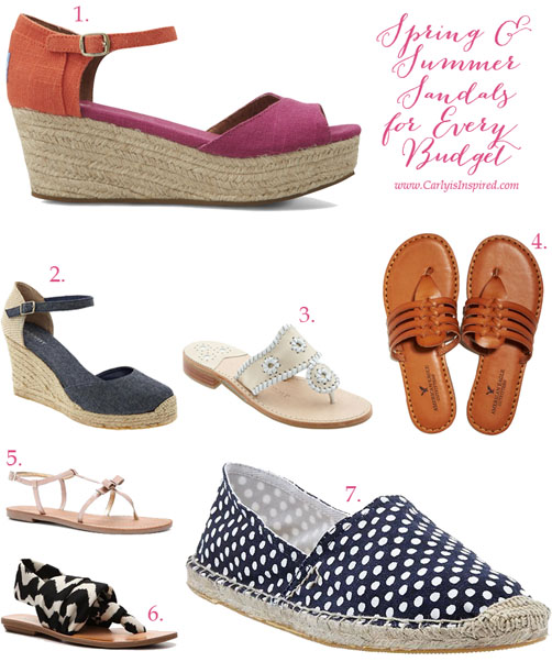 Sandals for Every Budget